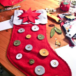 Homemade Christmas Stockings…..