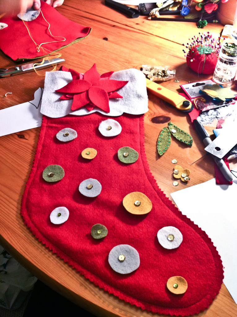 Homemade Christmas Stockings Yanessa B