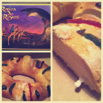 rosca de reyes and a frenchie indoor picnic